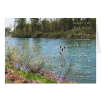 Serenity Prayer River Card