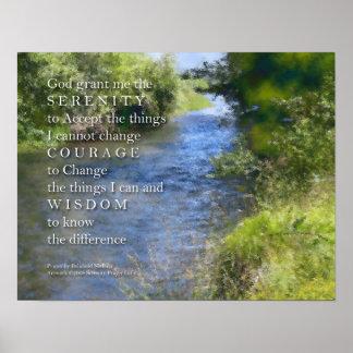 Serenity Prayer River Poster