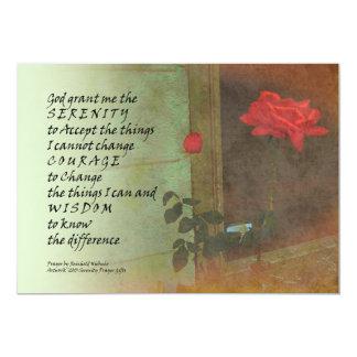 Serenity Prayer Rose and Door Card