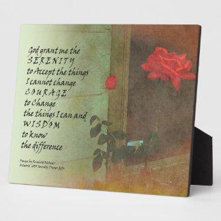 Serenity Prayer Rose and Door Display Plaques