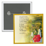 Serenity Prayer Rose and Fence Buttons