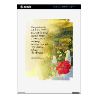 Serenity Prayer Rose and Fence Decal For iPad 3