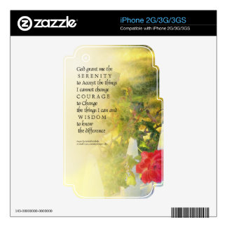 Serenity Prayer Rose and Fence Decals For iPhone 3