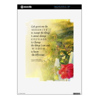Serenity Prayer Rose and Fence Skin For The iPad 2