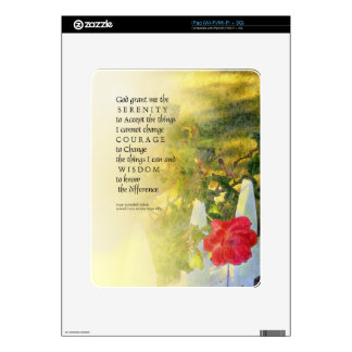 Serenity Prayer Rose and Fence Decals For The iPad