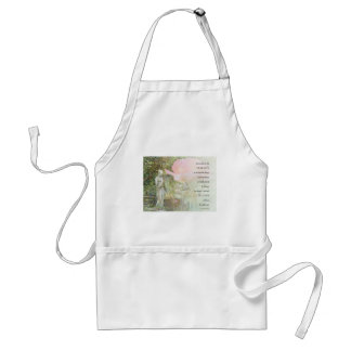 Serenity Prayer Rose and Garden Statue Adult Apron