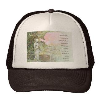 Serenity Prayer Rose and Garden Statue Trucker Hat