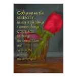 Serenity Prayer Rose in Glass 5x7 Paper Invitation Card