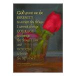 Serenity Prayer Rose in Glass Invitation
