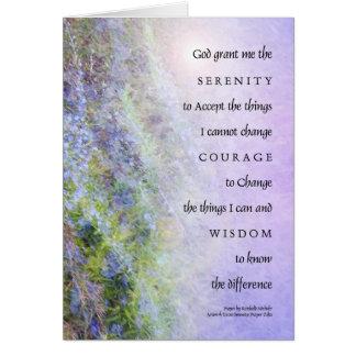 Serenity Prayer Rosemary Greeting Card