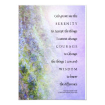 Serenity Prayer Rosemary Invitation