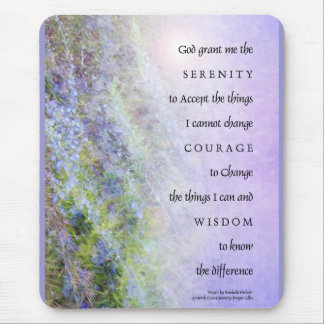 Serenity Prayer Rosemary Mouse Pad
