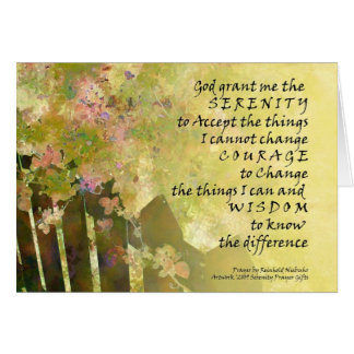Serenity Prayer Roses and Fence Card