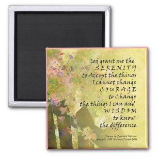 Serenity Prayer Roses & Fence Square Magnets