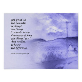 Serenity Prayer Rural Road Poster