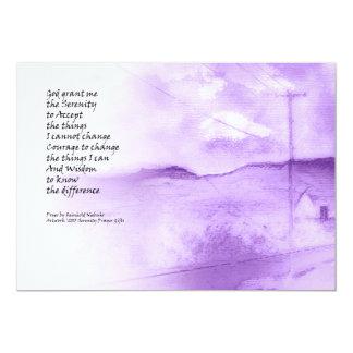 Serenity Prayer Rural Scene Card