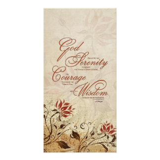 Serenity Prayer: Rusty Floral, Strength/Recovery Card