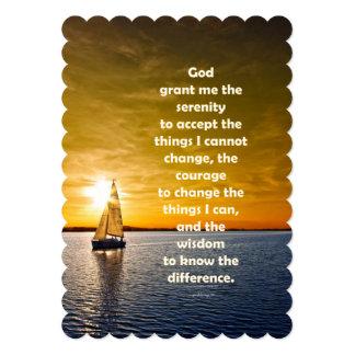 Serenity Prayer: Sailboat in Ocean, Strength/Recov Card