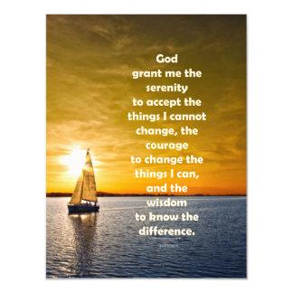 Serenity Prayer: Sailboat in Ocean, Strength/Recov Magnetic Card