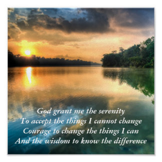 Serenity Prayer Scenic Canvas Poster