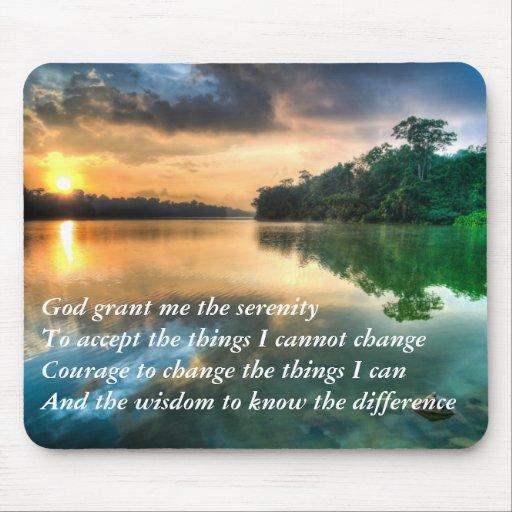 Serenity Prayer Scenic Mousepad