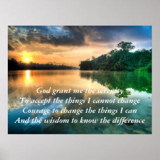 Serenity Prayer Scenic Poster