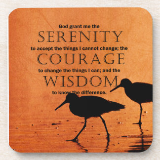 Serenity Prayer: Seagulls Beverage Coaster