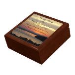 Serenity Prayer Seascape Sunset Photo Jewelry Box