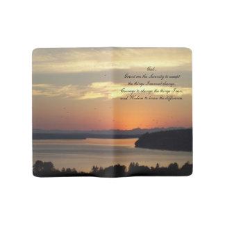 Serenity Prayer Seascape Sunset Photo Large Moleskine Notebook