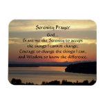 Serenity Prayer Seascape Sunset Rectangular Photo Magnet