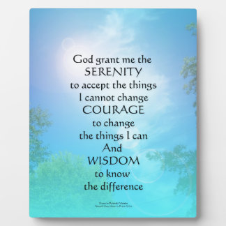 Serenity Prayer September Sky Display Plaques