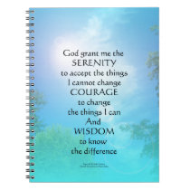 Serenity Prayer September Sky Notebook