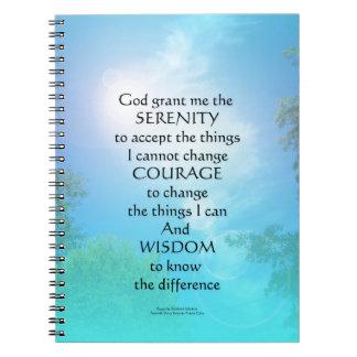 Serenity Prayer September Sky Notebook