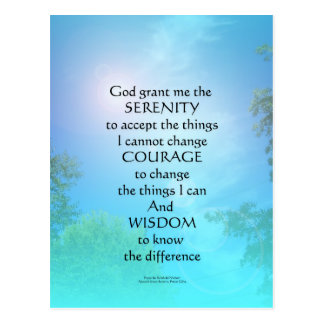 Serenity Prayer September Sky Postcard