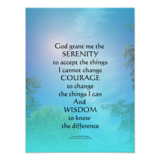 Serenity Prayer September Sky Poster