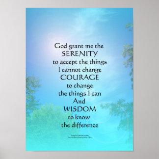 Serenity Prayer September Sky Poster