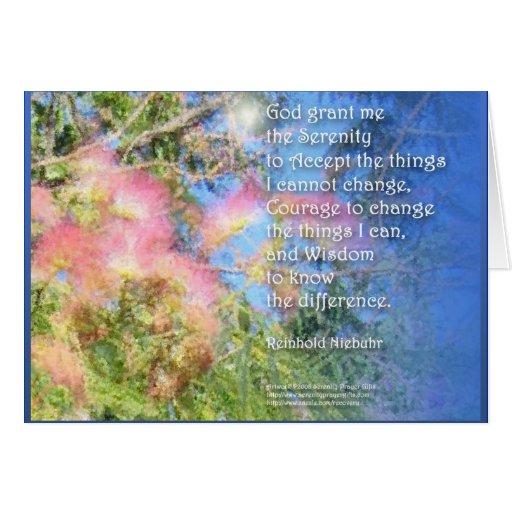 Serenity Prayer Silk Tree Card