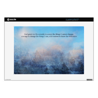 """Serenity Prayer Sky and Trees Abstract Decal For 15"""" Laptop"""
