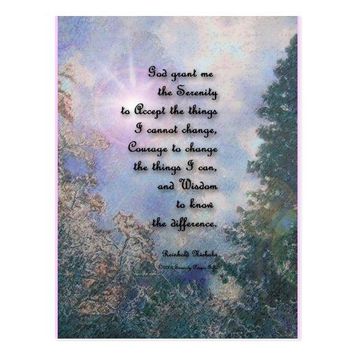 Serenity Prayer Sky Glow 2 Postcard