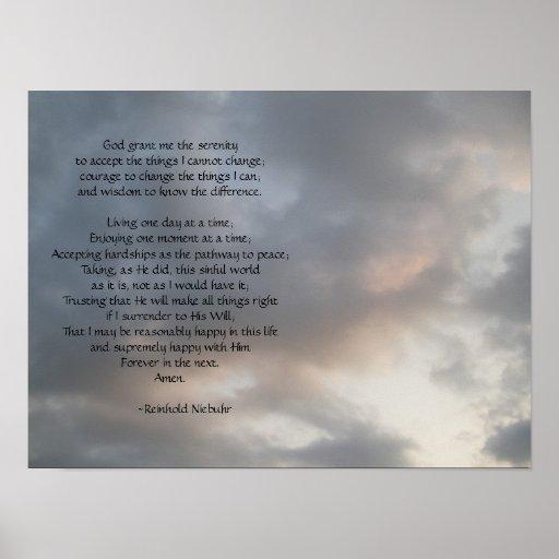 Serenity Prayer Sky poster