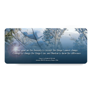 Serenity Prayer Snow and Branches Card