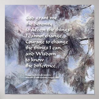 Serenity Prayer Snow Branch Poster