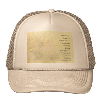 Serenity Prayer Snow Branch Sky Yellow Gold Trucker Hats