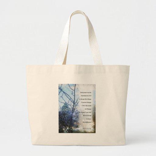 Serenity Prayer Snow Branches Jumbo Tote Bag