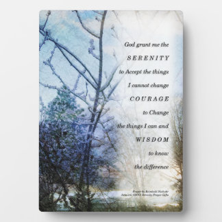 Serenity Prayer Snow Branches Plaque