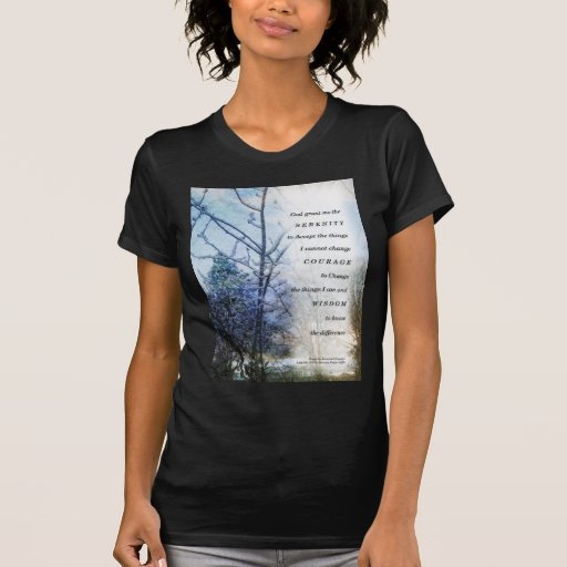 Serenity Prayer Snow Branches T-shirts