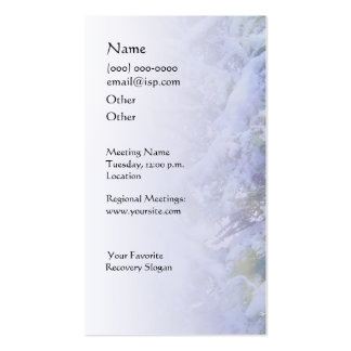 Serenity Prayer Snow on Pine Branches Business Car Business Card
