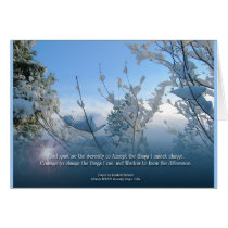 Serenity Prayer Snow Scene Card