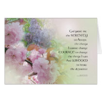 Serenity Prayer Spring Flowers