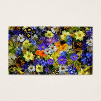 Serenity Prayer Spring Flowers Business Card
